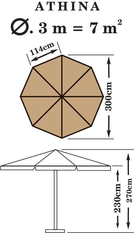 Ομπρέλα Επαγγελματική 34